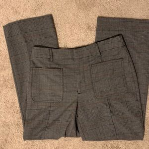Vera Wang grey plaid knit pants